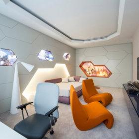 背景墙沙发电视背景墙单人沙发设计方案