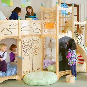 现代简约儿童房双层儿童床图片