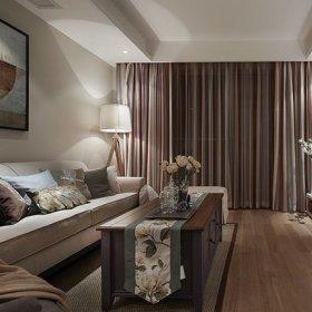 客厅窗帘背景墙沙发客厅沙发挂画设计案例