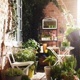 阳台植物花架设计图