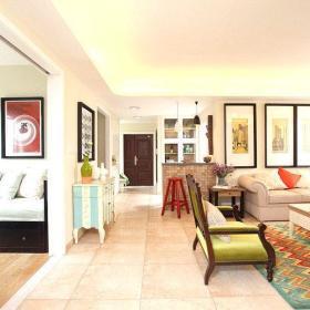 美式客厅活动室装修图