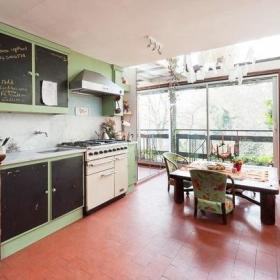 复古厨房效果图
