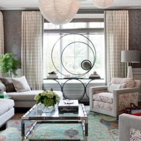 窗帘沙发单人沙发设计案例
