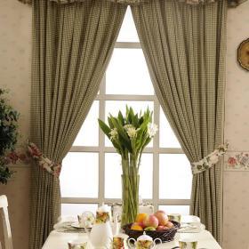 田园窗帘餐桌效果图