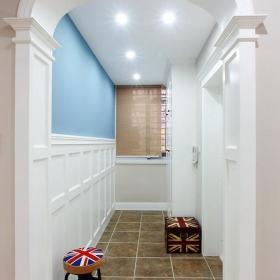 中式美式客厅玄关玄关柜玄关桌装修图