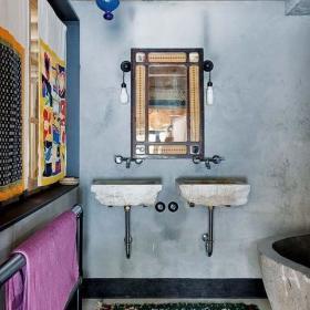 卫生间洗手盆装修图