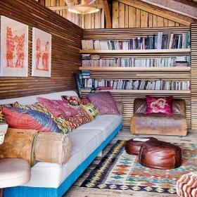 沙发布艺沙发坐凳图片