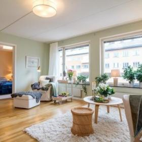北欧风情 瑞典76平米自然风公寓