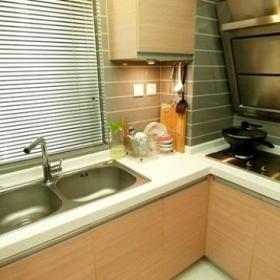 厨房玄关玄关柜砧板油烟机装修图
