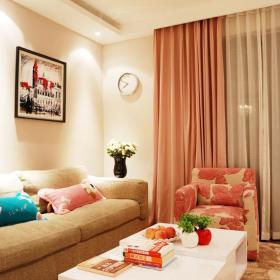 79平温馨三口之家 暖粉色打造浪漫居室