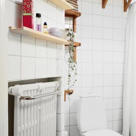 卫生间浴巾搁架设计案例