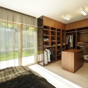 现代简约中式卧室衣帽间设计案例