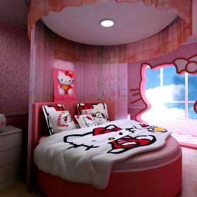 现代简约田园儿童房设计图