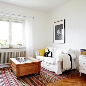 混搭自然简约混搭风格客厅设计方案
