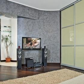 实木地板木地板电视墙图片