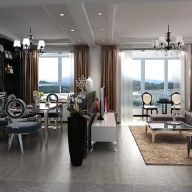 欧式客厅餐厅装修案例