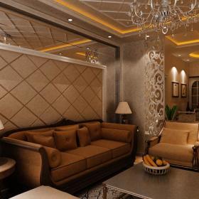 新古典客厅背景墙设计方案