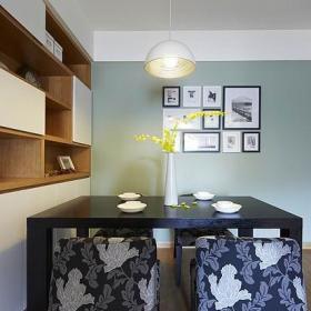 现代简约餐厅背景墙餐桌案例展示