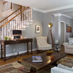 美式客厅楼梯设计案例展示