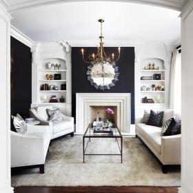 简欧客厅收纳设计方案