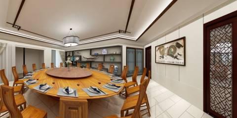 清山湖餐厅包间装修设计方案