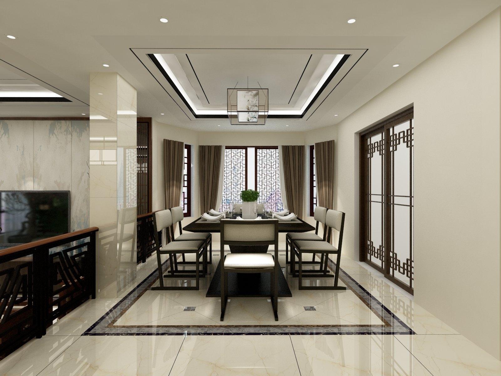 新中式别墅-设计师:陈浩