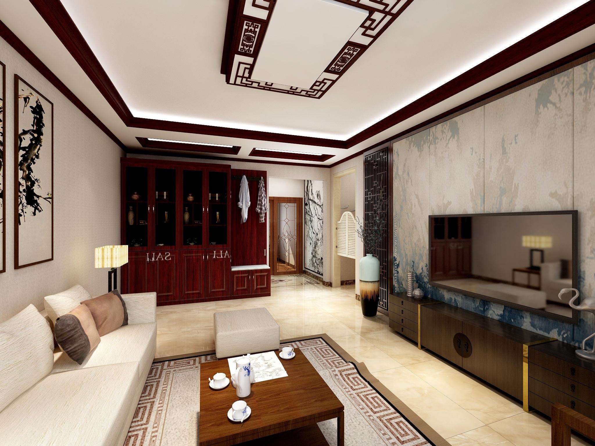 129平3房现代新中式风格-设计师:刘老师