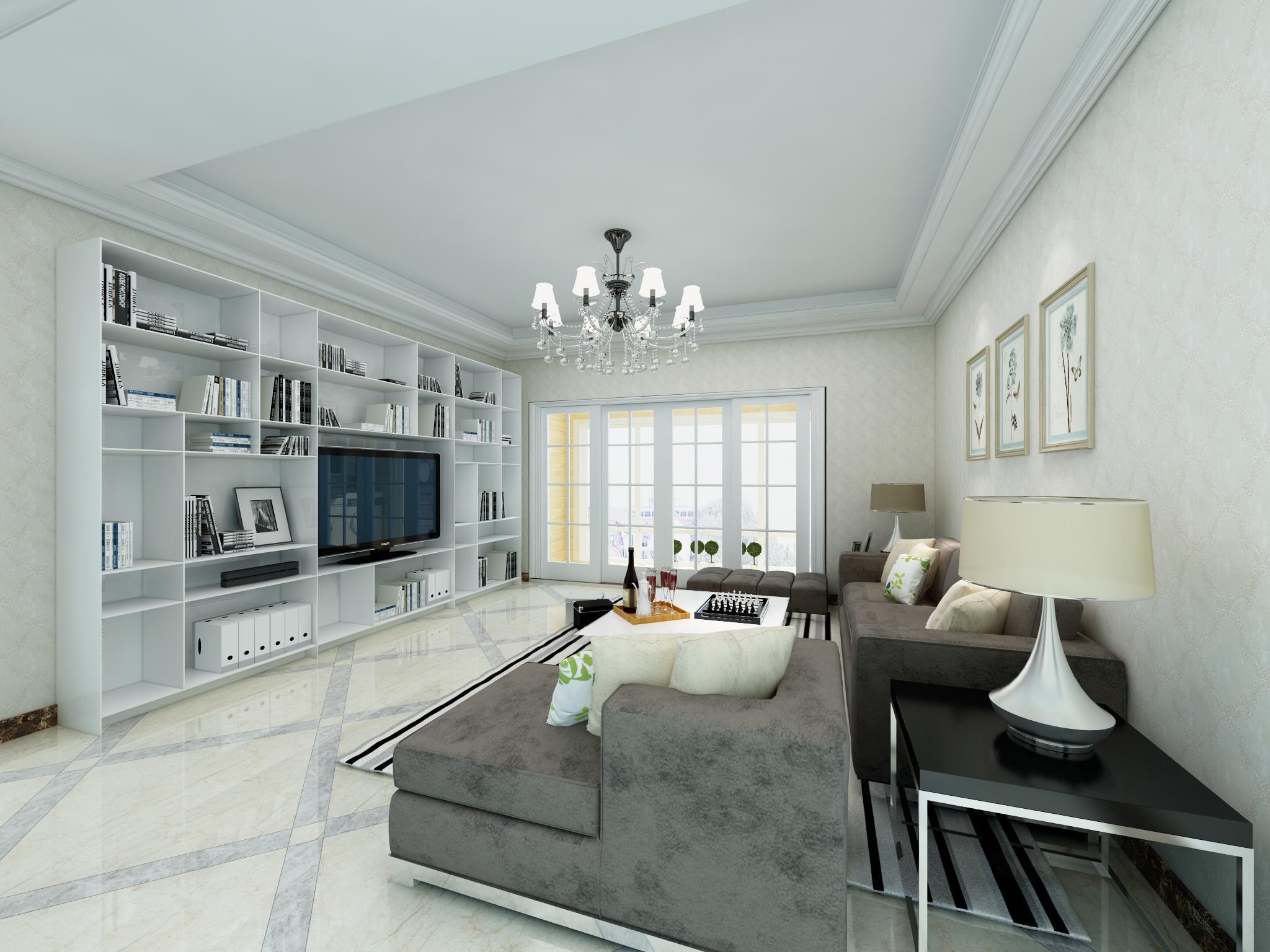 万达134.㎡四居室现代简约风格-设计师:刘老师