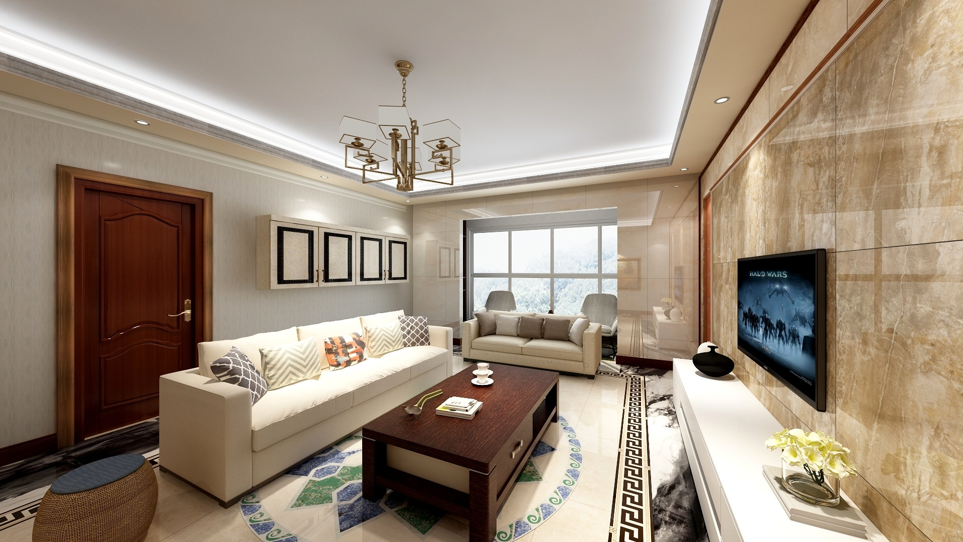 现代中式两居-设计师:李青恒