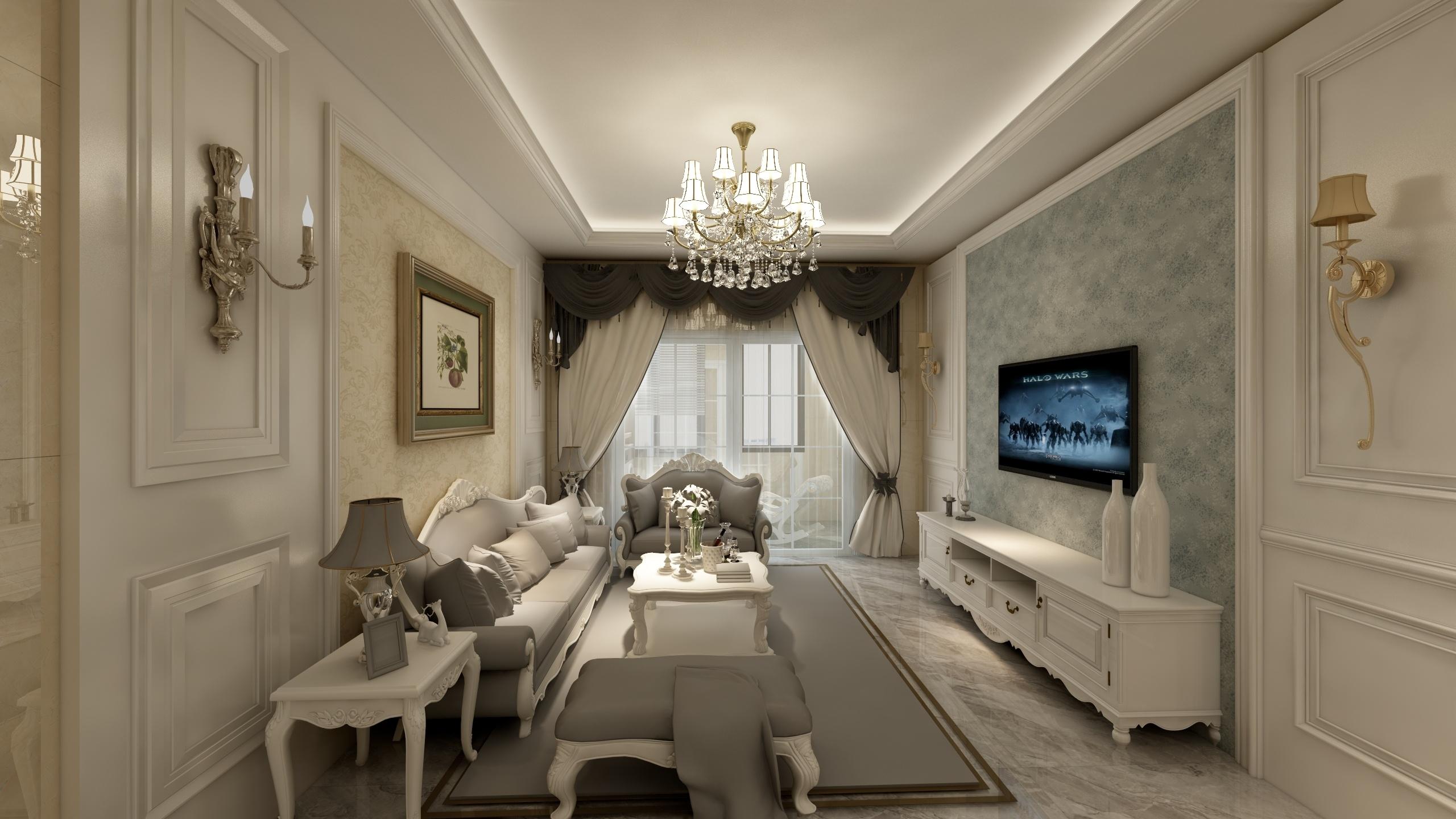 欧式两居-设计师:李青恒