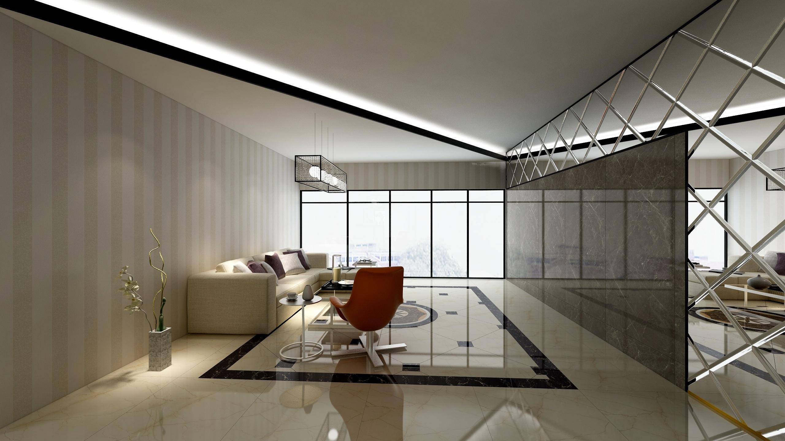 现代简约三居-设计师:李青恒