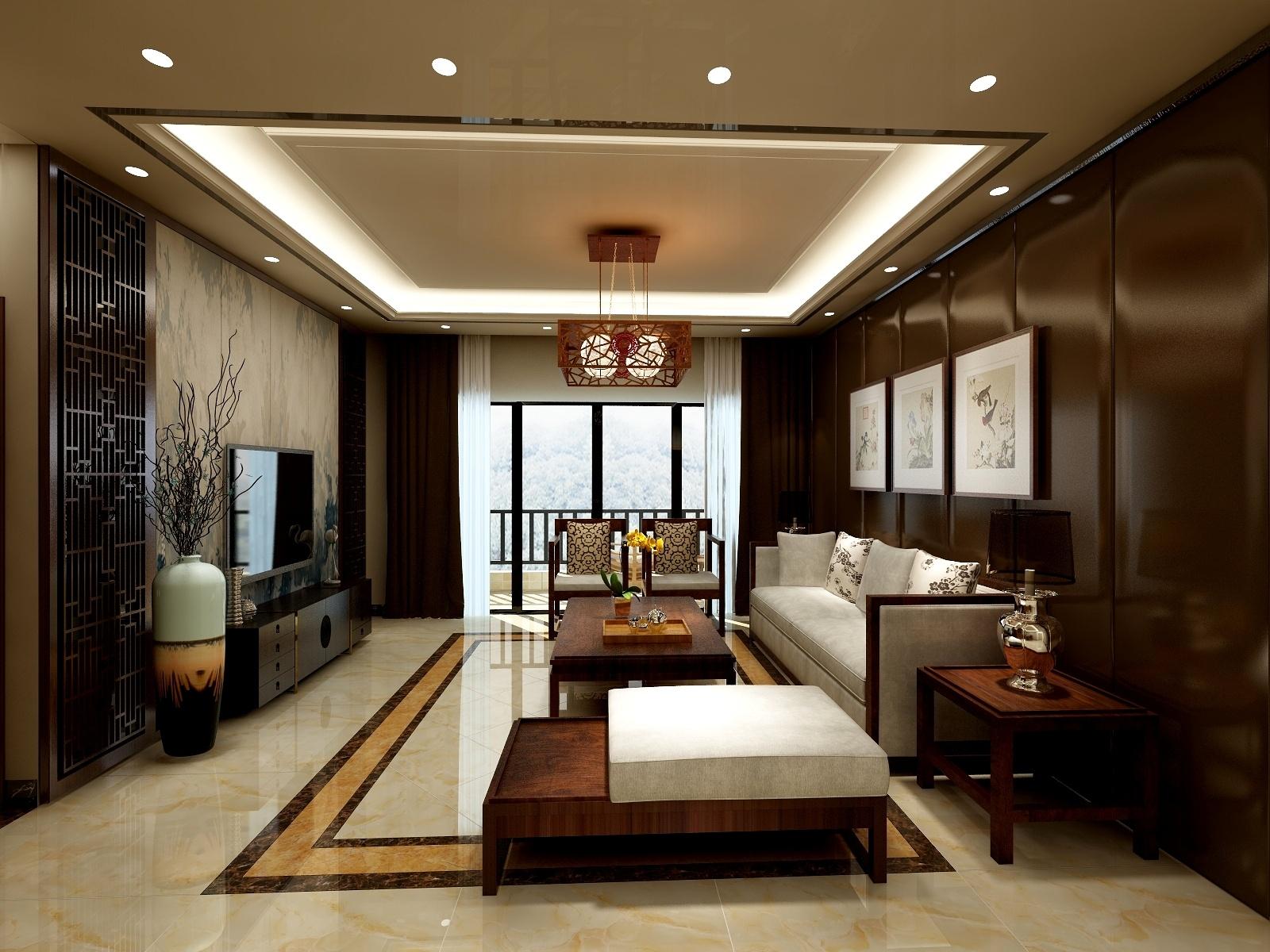 中式风格98平三居室-设计师:周朱柳