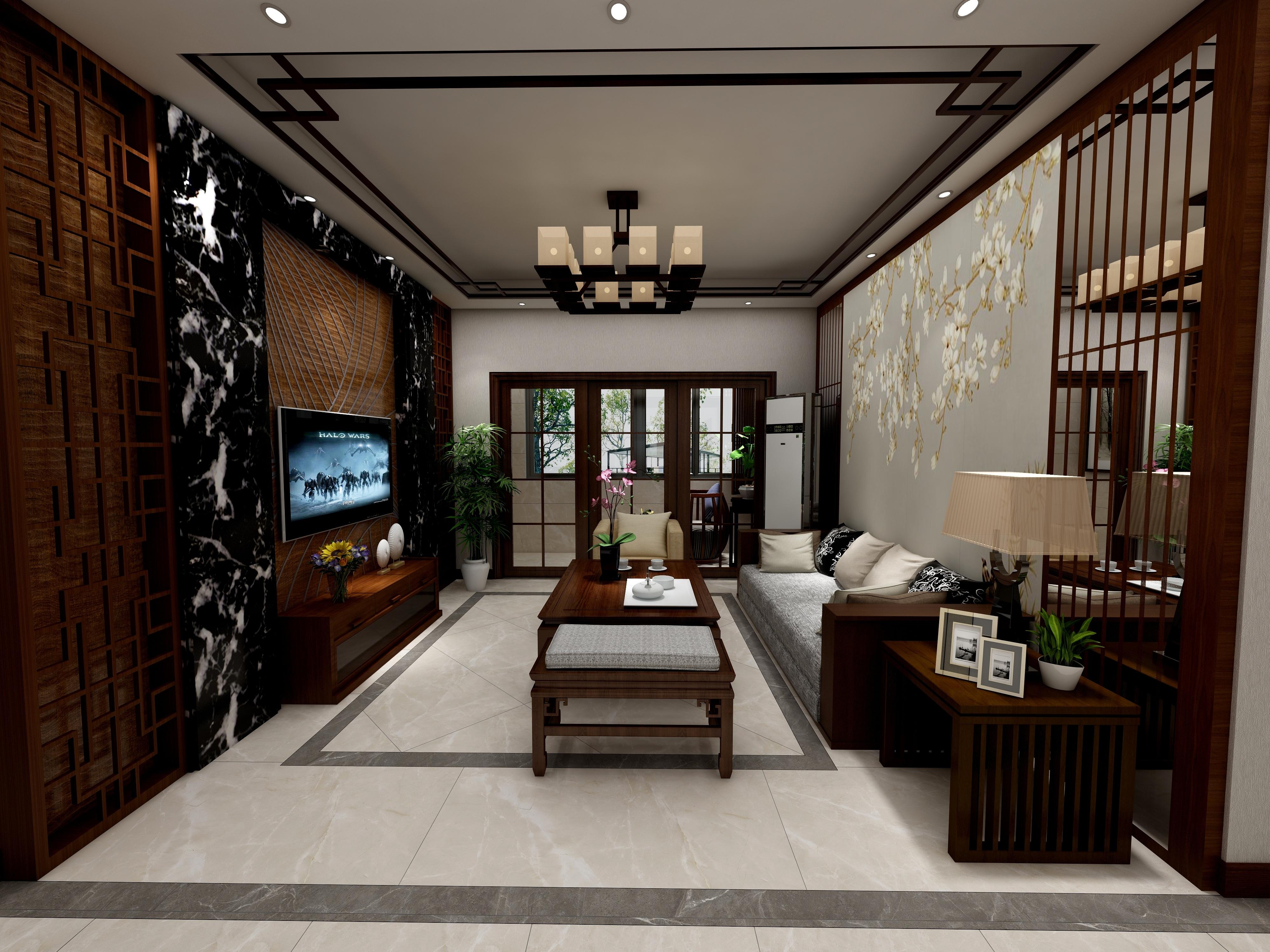 郑州迎宾路3号院-新中式风格-设计师:黄红妮