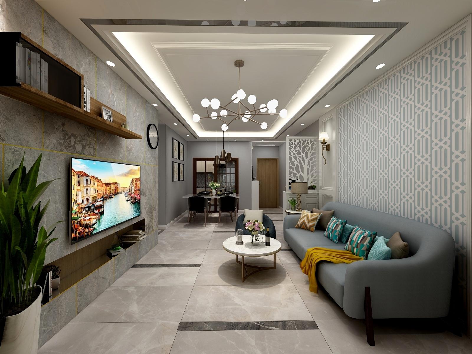 现代简约客厅12007-设计师:周朱柳