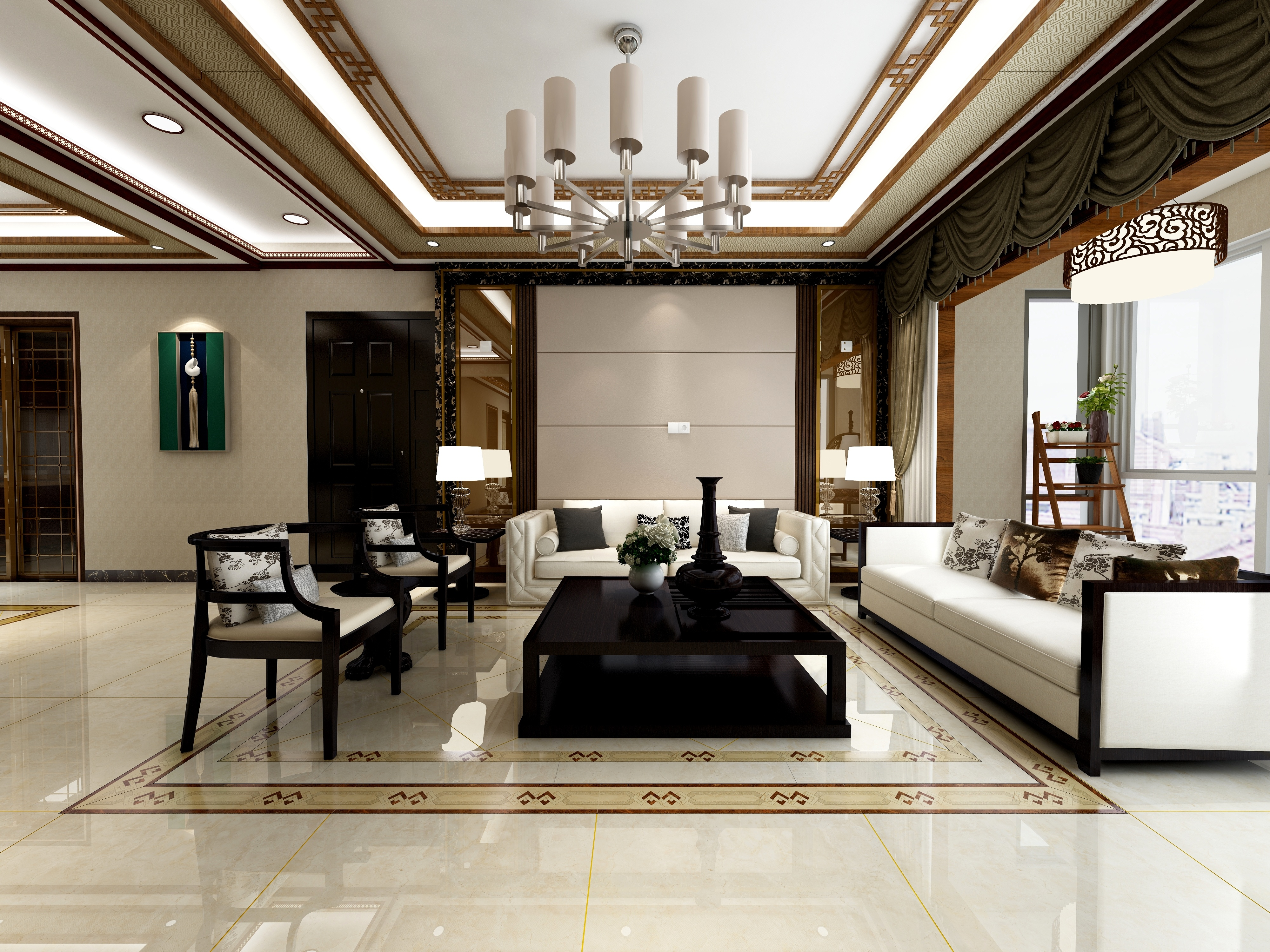 中式风格88G13-设计师:陈梵