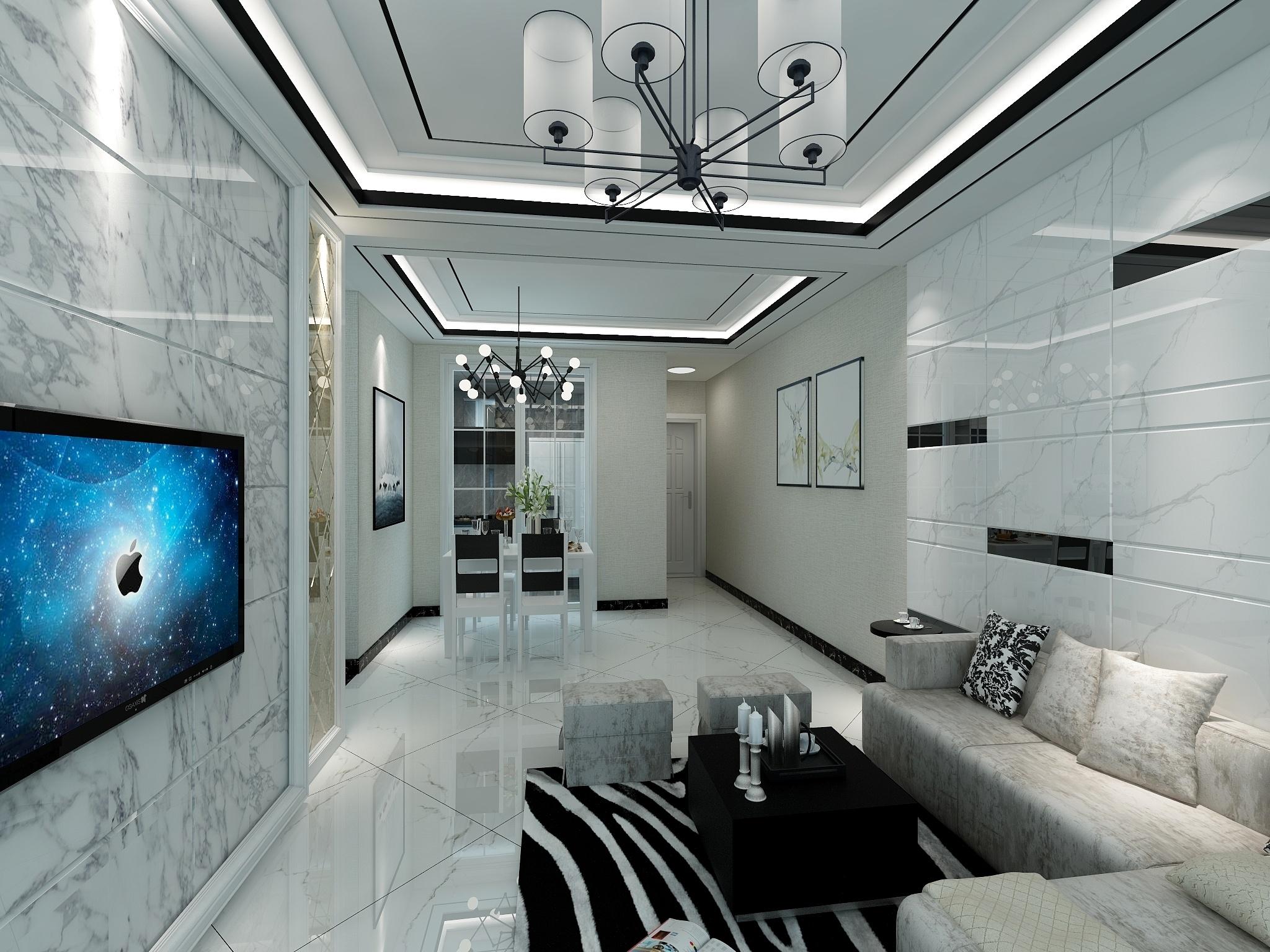 华侨城96方两室两厅-设计师:陈彬华