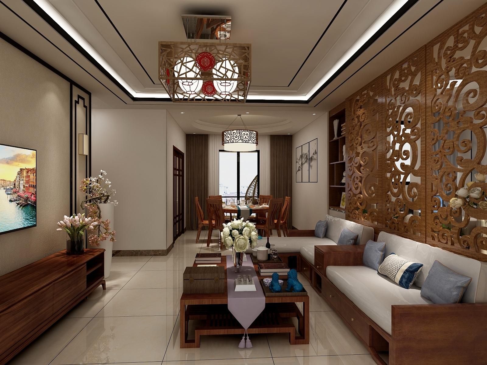 中式三室-设计师:周朱柳