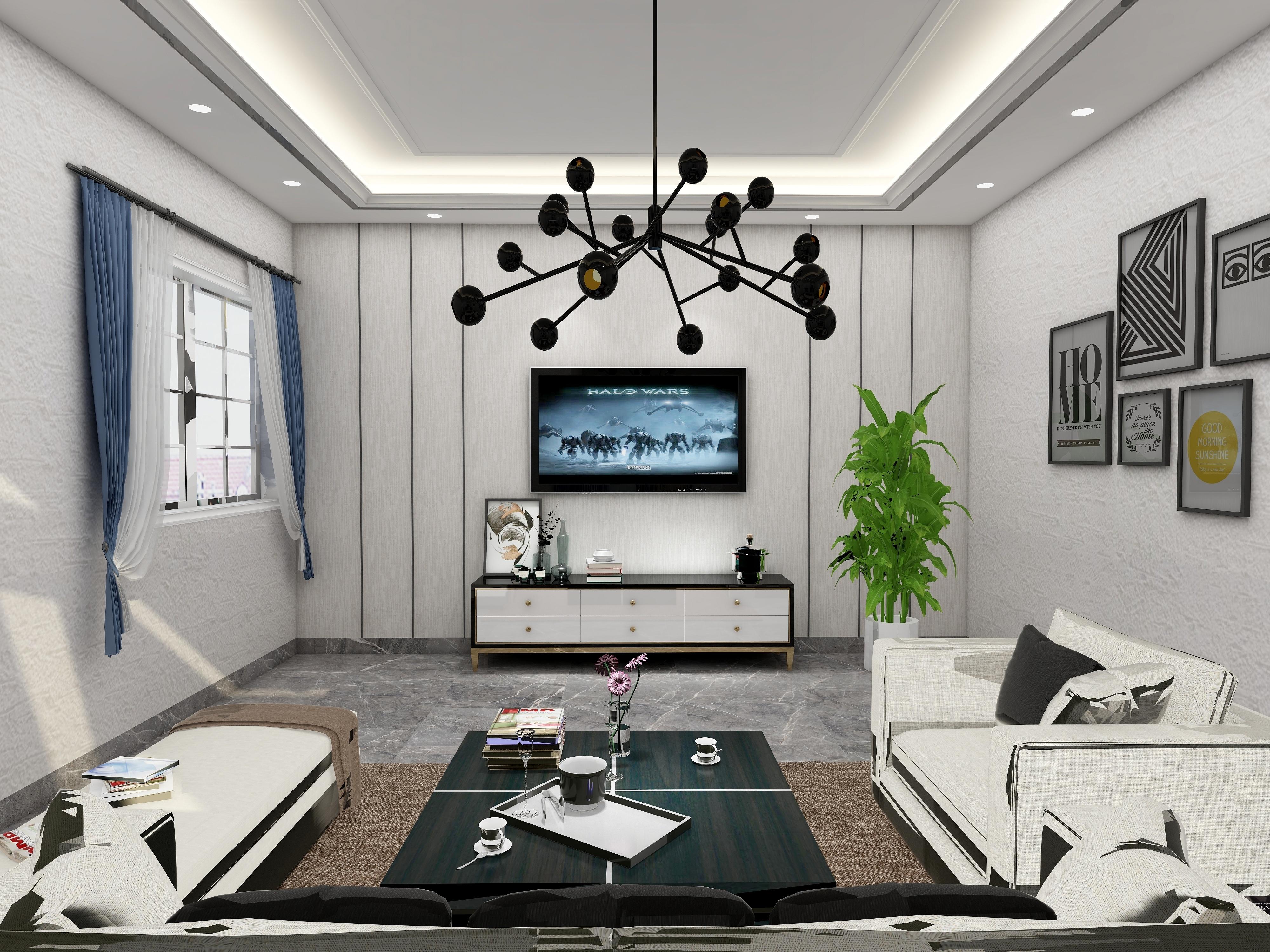 黄委会家属院C7单元3室2厅1卫1厨现代简约风格-设计师:黄红妮