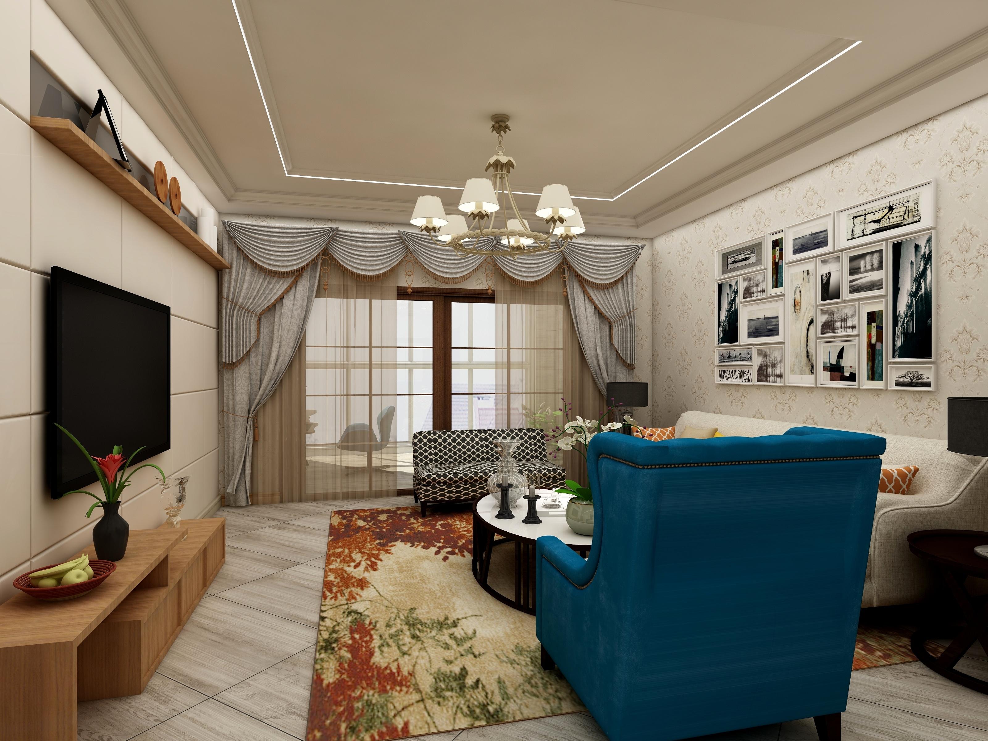 浩然国际4室2厅1卫1厨-设计师:马文文