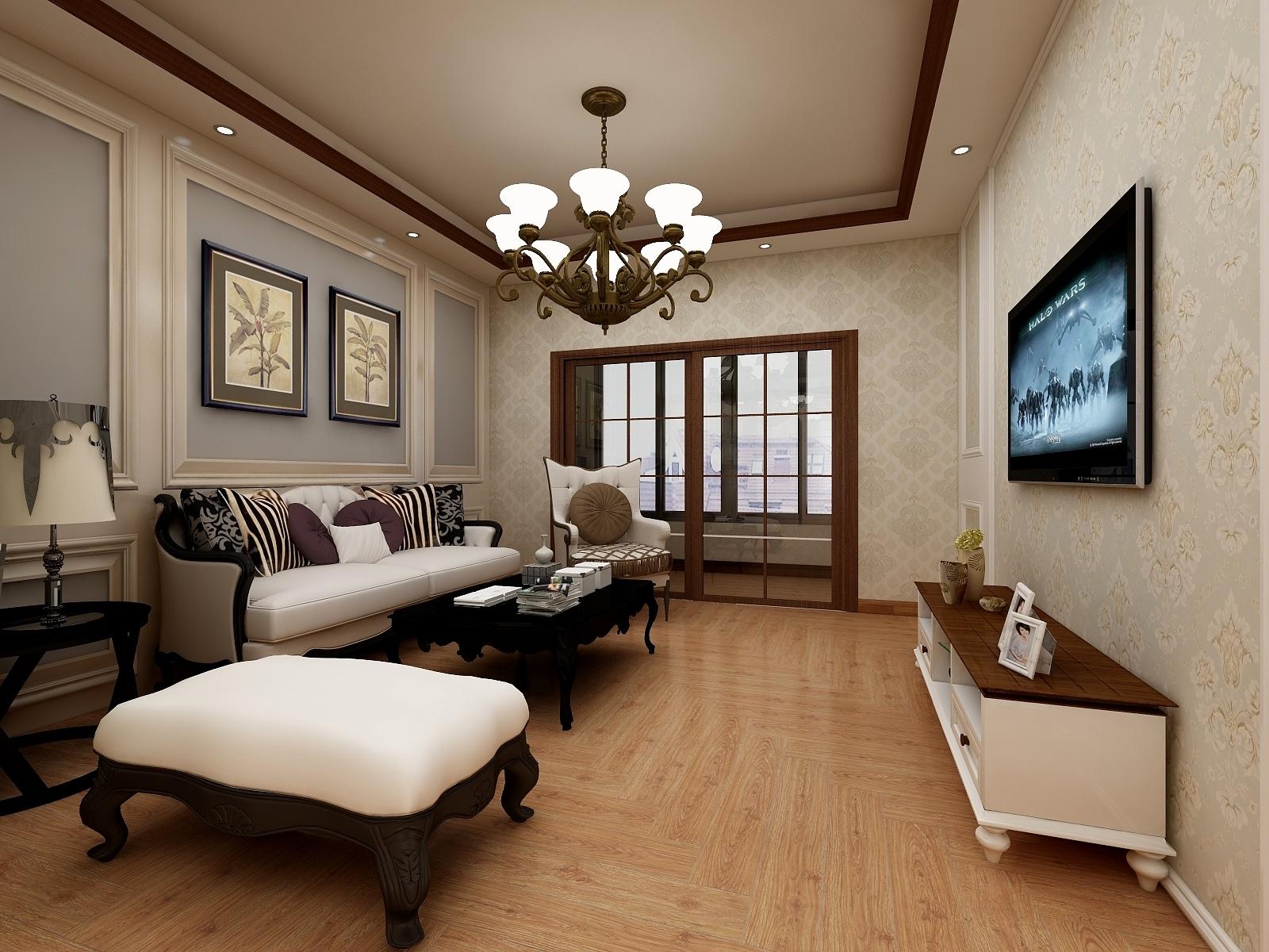 清华大溪地-3房2厅-美式风格-159014-设计师:黄红妮