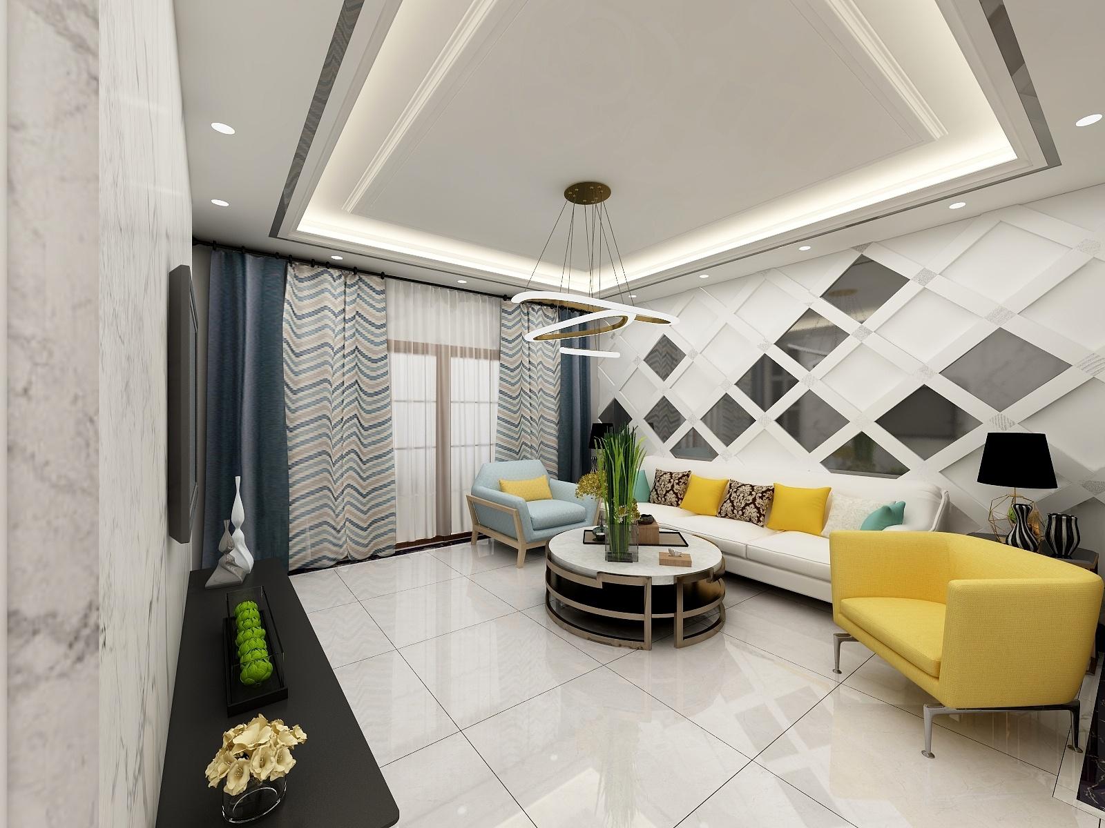 幸福城三室两厅-设计师:李楠