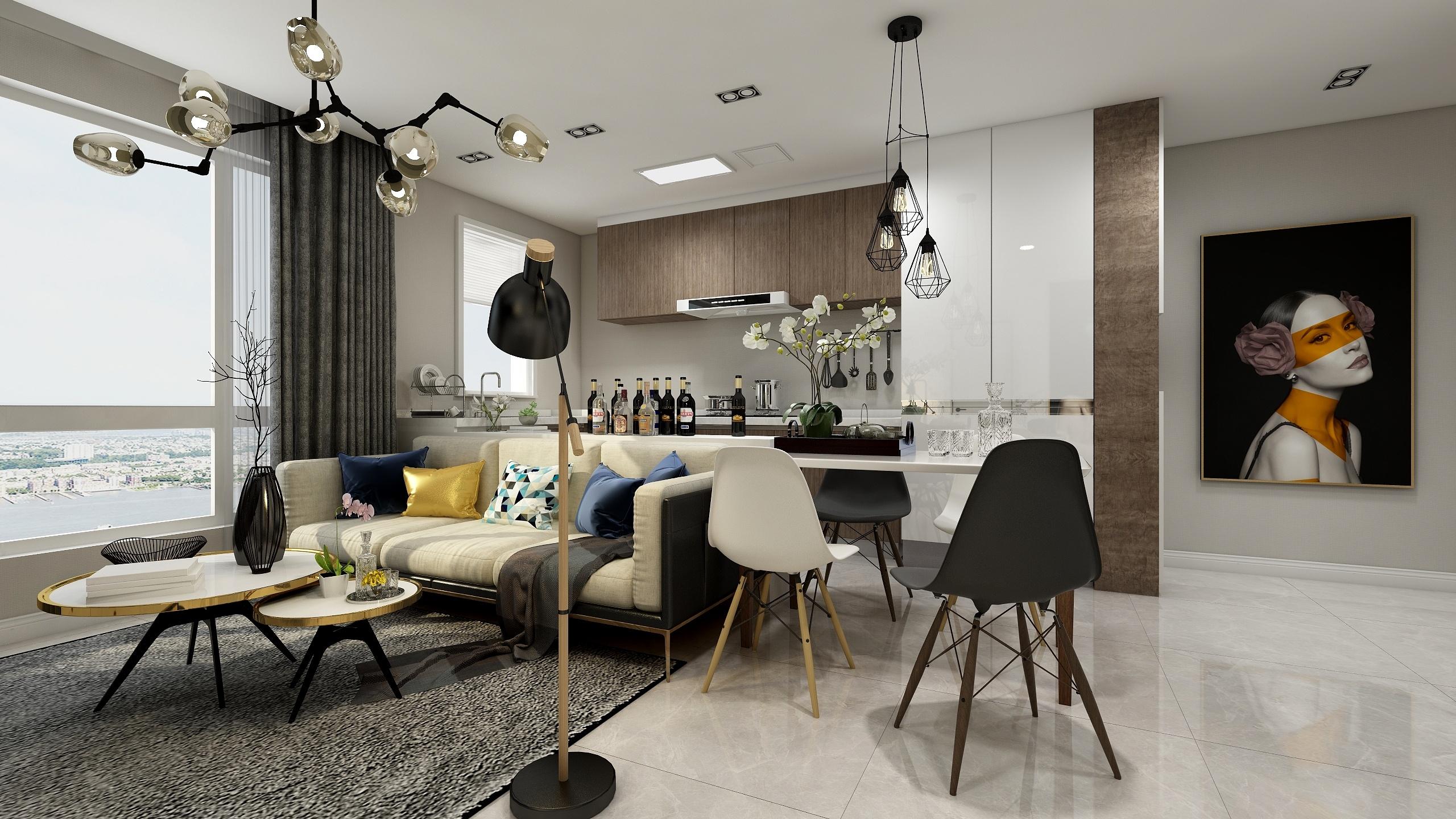 # 品质生活#现代风格-一居室-小户型