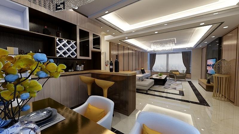江门市凤山水岸189m²意式轻奢四房两厅三卫一厨