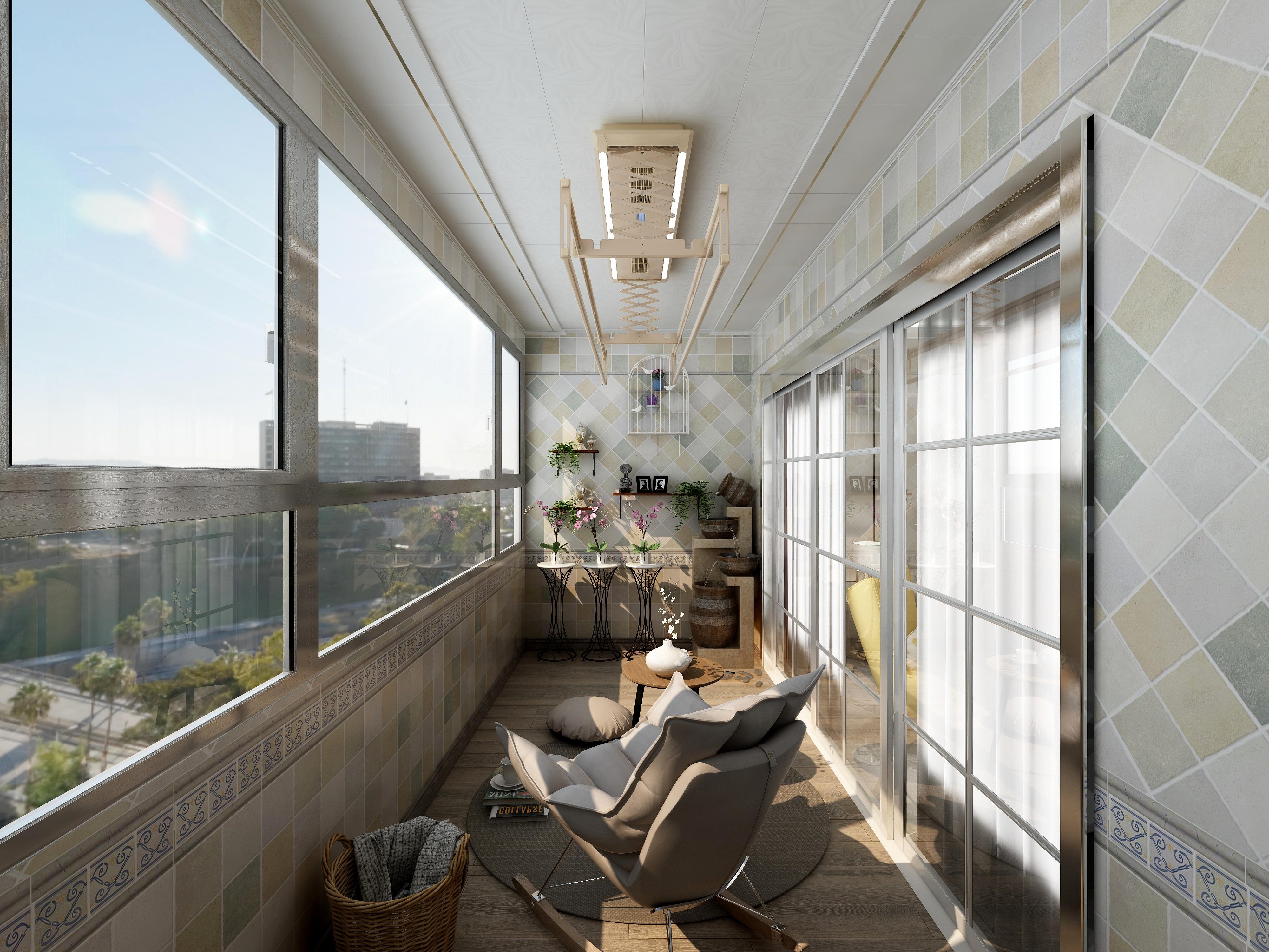 阳台-(现代风格)