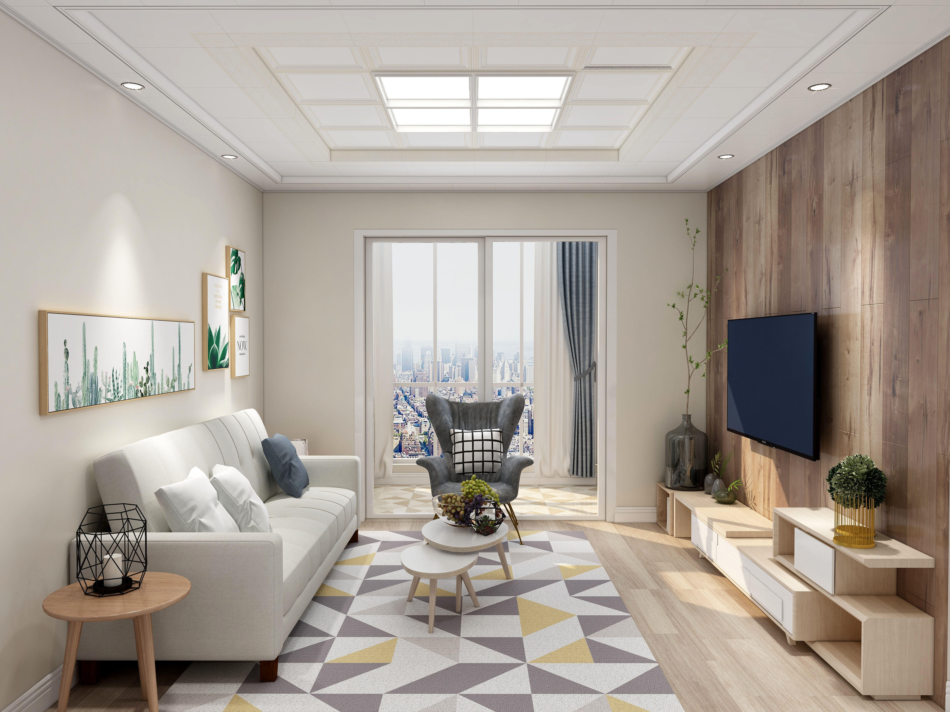 北欧风格-(客厅卧室)