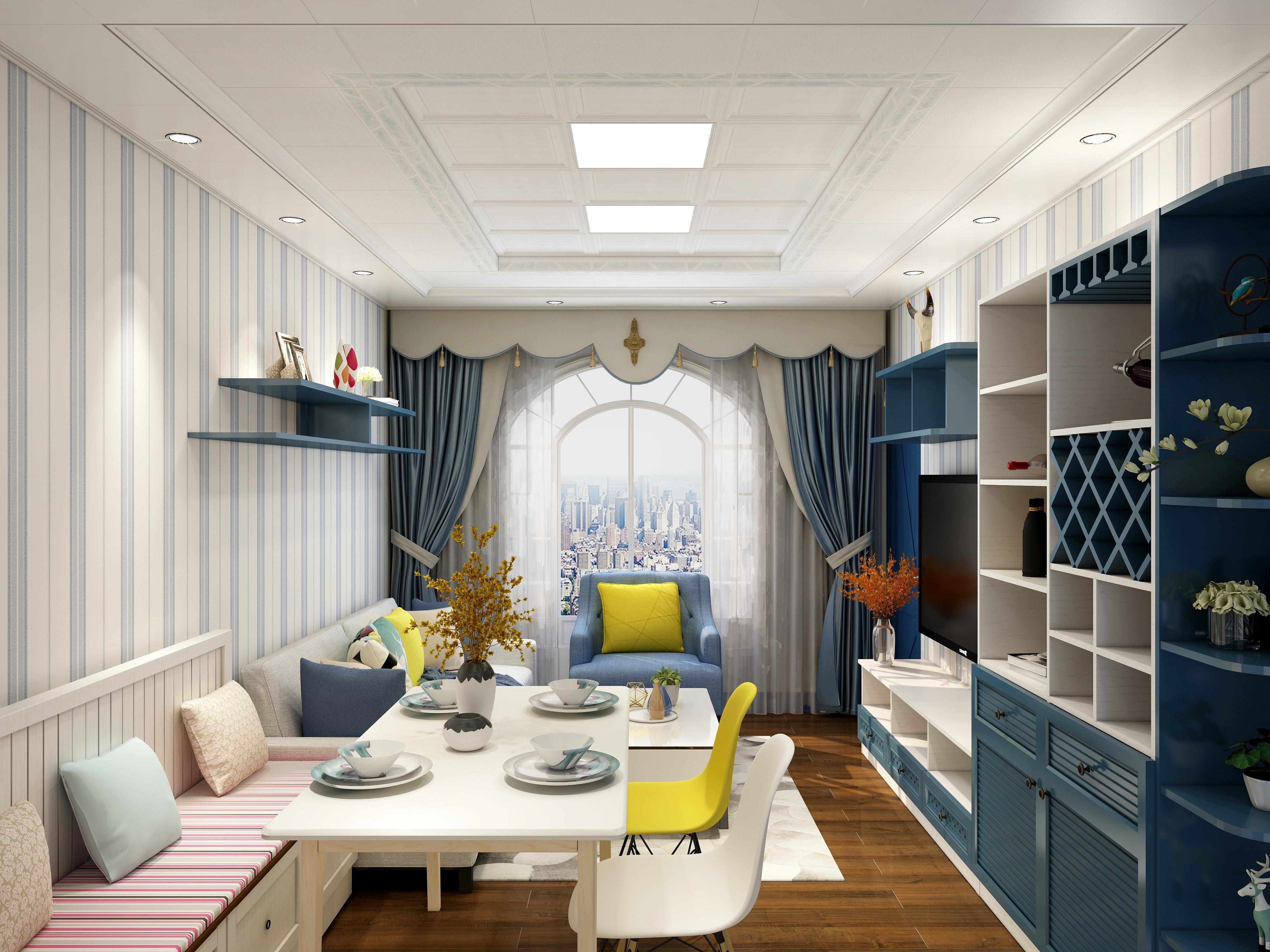 地中海风格-(客餐厅+儿童房+厕所)