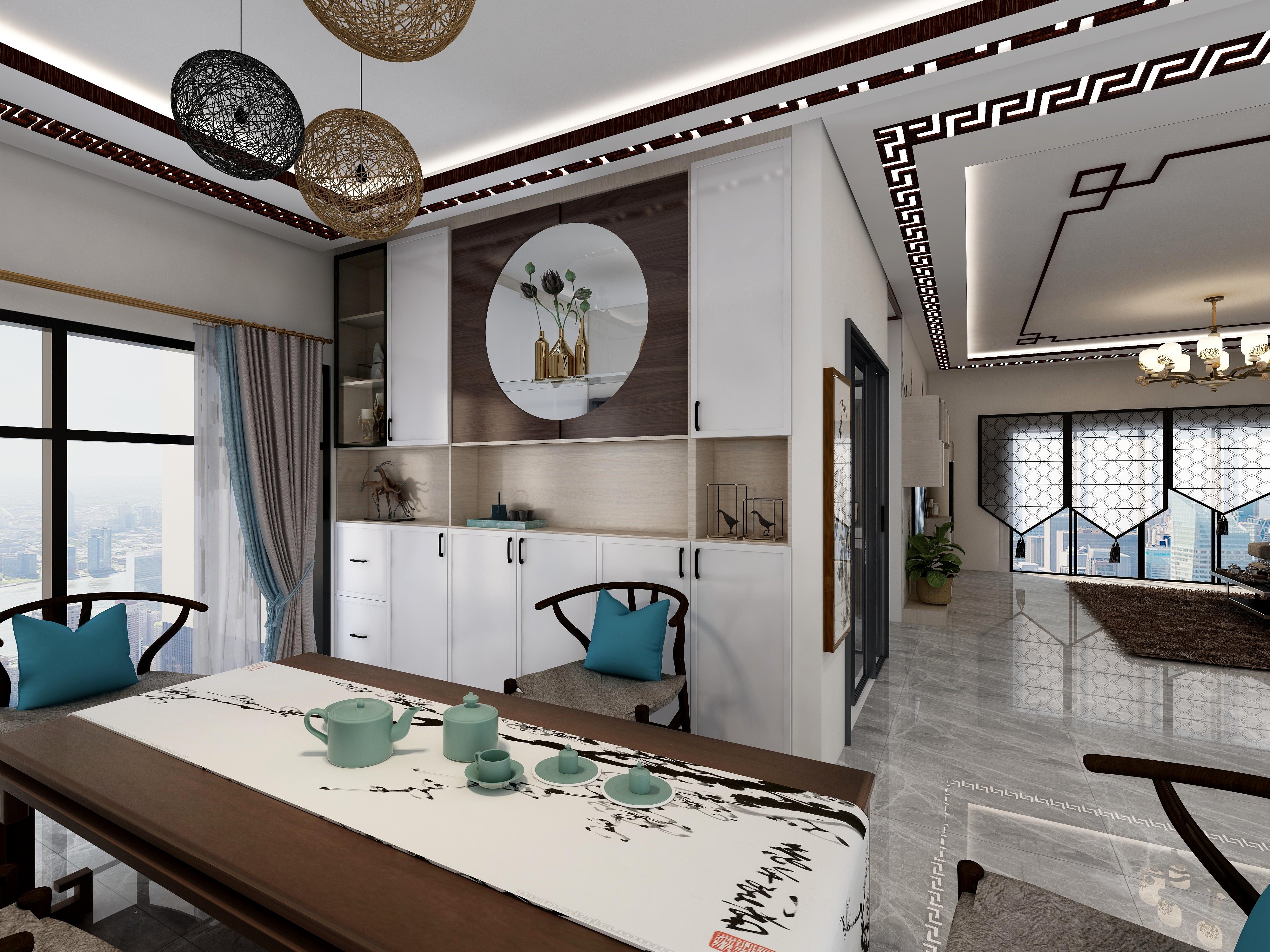明翠新村120方新中式3房2厅