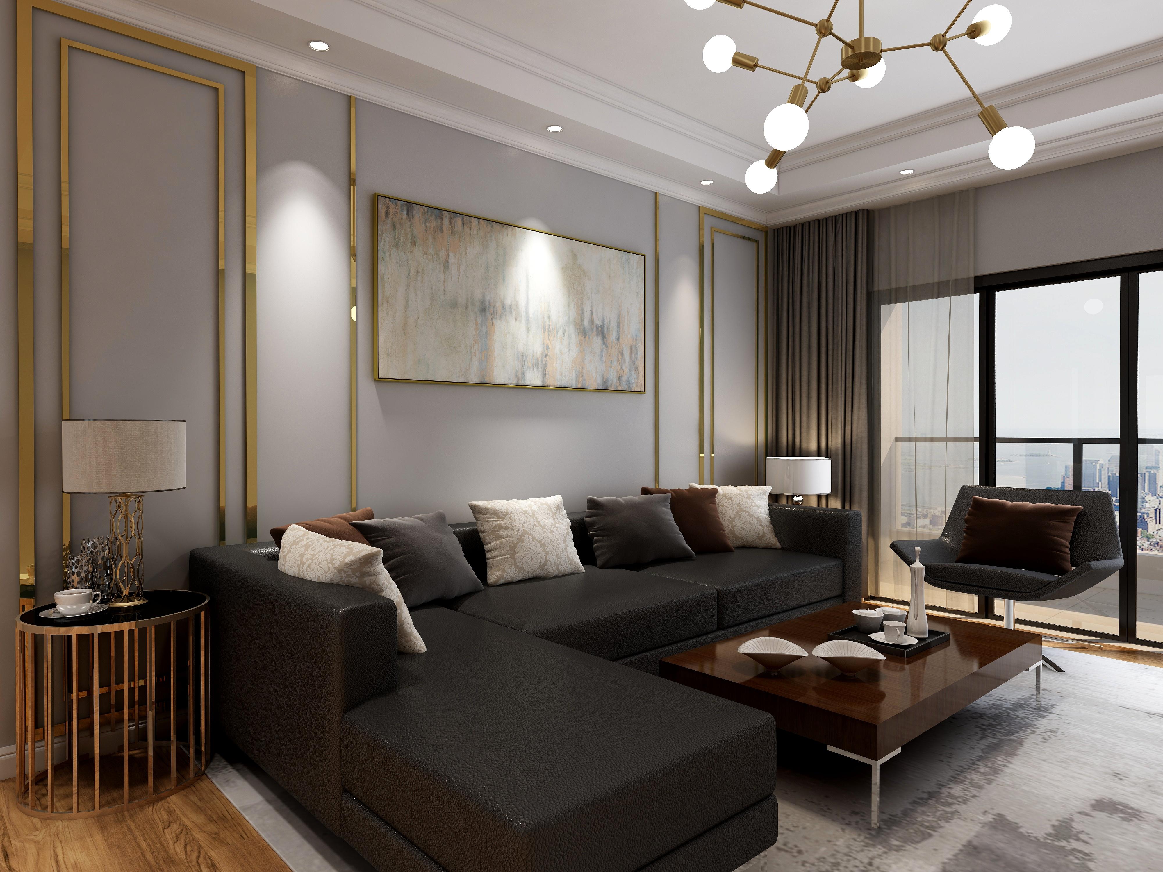珠海平沙九号109平方现代风格三房两厅
