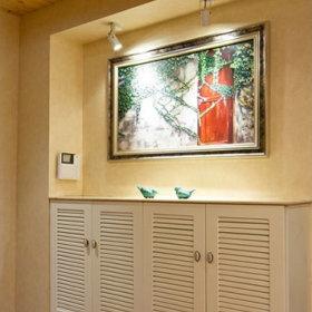 美式玄关吊顶玄关柜柜子射灯设计方案