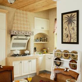田园美式餐厅厨房餐桌案例展示